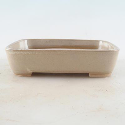 Keramische Bonsai-Schale 13 x 9,5 x 3 cm, beige Farbe - 1