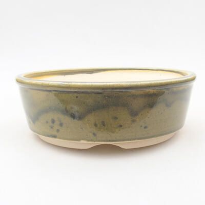 Keramische Bonsai-Schale 16 x 16 x 5 cm, Farbe grün - 1
