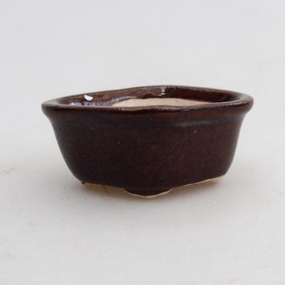Mini Bonsai Schüssel 5 x 4 x 2 cm, braune Farbe - 1