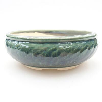 Keramische Bonsai-Schale 14 x 14 x 5 cm, Farbe grün - 1