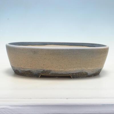 Bonsai-Schale 41,5 x 32,5 x 11 cm, grau-beige Farbe - 1
