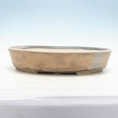 Bonsai-Schale 45 x 36,5 x 9 cm, grau-beige Farbe - 1