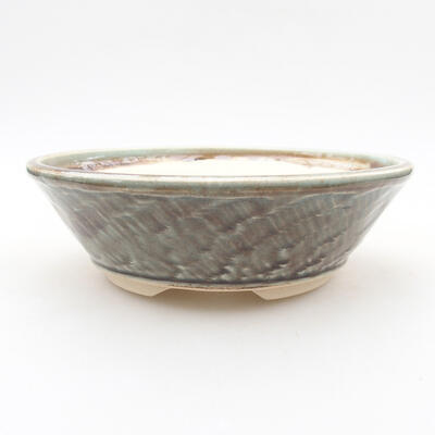 Keramische Bonsai-Schale 16 x 16 x 4,5 cm, Farbe grün - 1