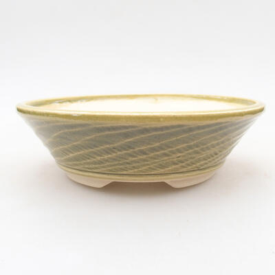 Keramische Bonsai-Schale 15,5 x 15,5 x 4,5 cm, Farbe grün - 1