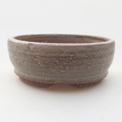 Keramische Bonsai-Schale 9 x 9 x 3,5 cm, graue Farbe - 1
