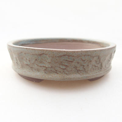 Keramische Bonsai-Schale 10 x 10 x 3 cm, graue Farbe - 1