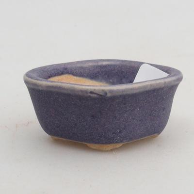 Mini-Bonsaischale 4,5 x 4 x 2 cm, Farbe violett - 1