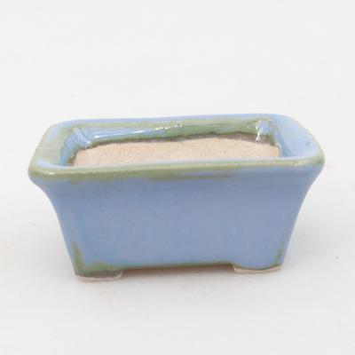 Mini-Bonsaischale 6 x 4,5 x 2,5 cm, Farbe blau - 1