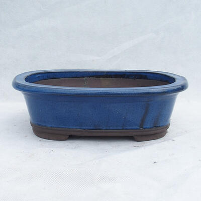 Bonsaischale 29 x 21 x 9 cm, Farbe blau - 1