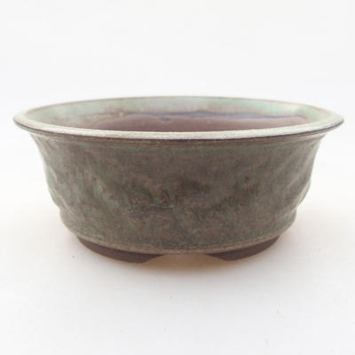 Keramik Bonsai Schüssel 11 x 11 x 4 cm, Farbe grün - 1