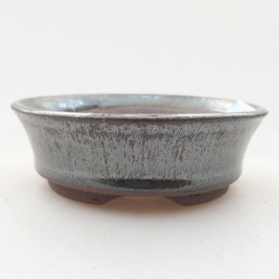 Keramische Bonsai-Schale 8 x 8 x 2,5 cm, Farbe grün - 1