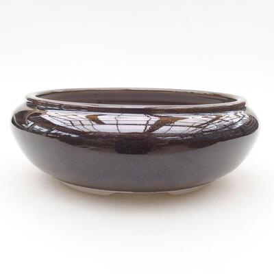 Keramische Bonsai-Schale 15 x 15 x 6 cm, Farbe braun - 1