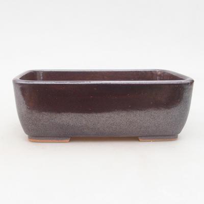 Keramische Bonsai-Schale 16 x 10 x 5,5 cm, braune Farbe - 1
