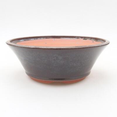 Keramische Bonsai-Schale 16,5 x 16,5 x 6 cm, braune Farbe - 1