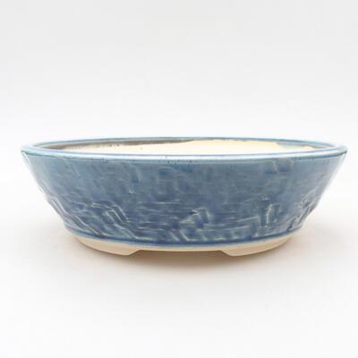 Keramische Bonsai-Schale 19,5 x 19,5 x 6 cm, Farbe blau - 1