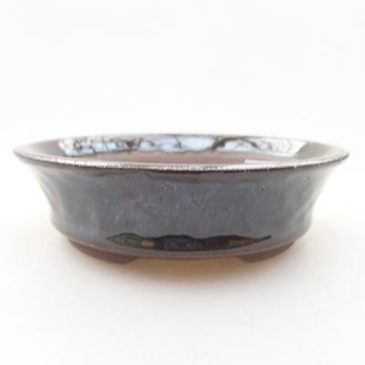 Keramische Bonsai-Schale 10,5 x 10,5 x 3 cm, Farbe grün - 1