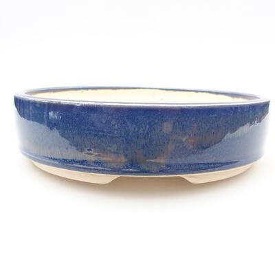 Keramische Bonsai-Schale 18 x 18 x 4,5 cm, Farbe blau - 1