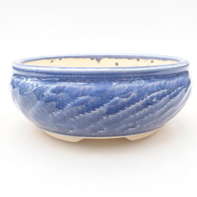 Keramische Bonsai-Schale 13,5 x 13,5 x 5,5 cm, Farbe blau - 1