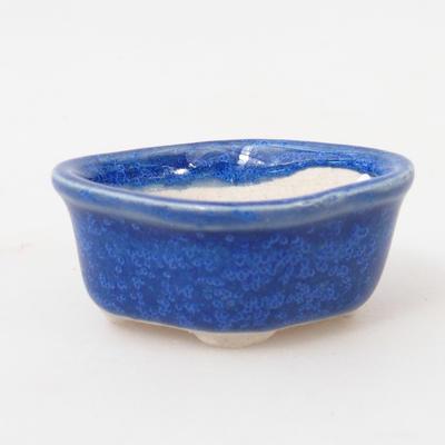 Mini-Bonsaischale 4,5 x 4 x 2 cm, Farbe blau - 1