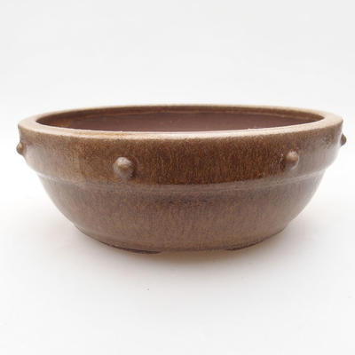 Keramik Bonsaischale 10 x 10 x 2,5 cm, Farbe grün - 1