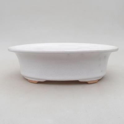 Keramische Bonsai-Schale 22 x 18 x 6,5 cm, weiße Farbe - 1