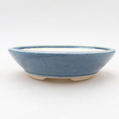 Keramische Bonsai-Schale 15 x 15 x 4 cm, Farbe blau - 1