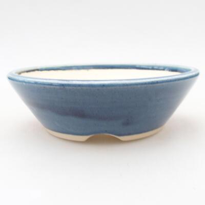 Keramische Bonsai-Schale 15 x 15 x 4,5 cm, Farbe blau - 1