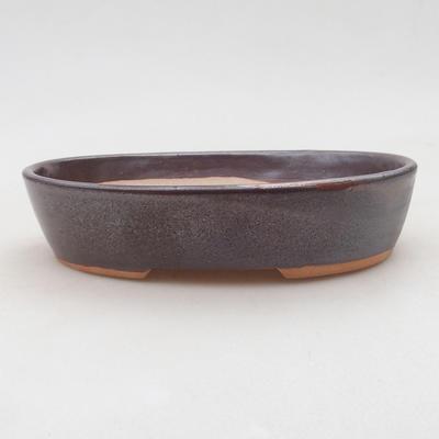 Keramische Bonsai-Schale 17 x 14 x 4 cm, Farbe braun - 1