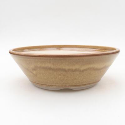 Keramische Bonsai-Schale 20 x 20 x 6,5 cm, braune Farbe - 1