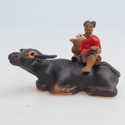Keramische Figur - Büffel - 1