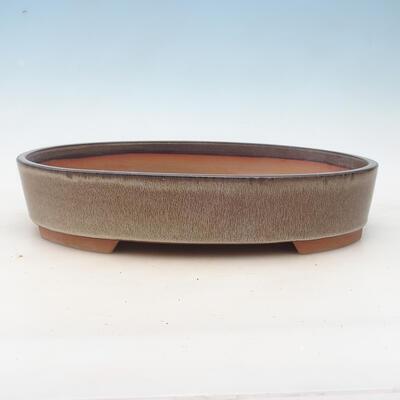 Bonsai-Schale 34,5 x 25,5 x 7 cm, braungraue Farbe - 1
