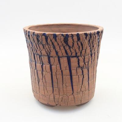 Keramische Bonsai-Schale 13 x 13 x 12,5 cm, Farbe blau - 1