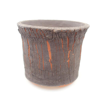 Keramische Bonsai-Schale 13 x 13 x 10,5 cm, graue Farbe - 1