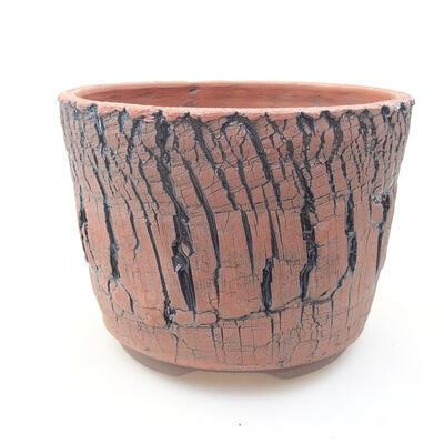 Keramische Bonsai-Schale 15 x 15 x 11 cm, Farbe schwarz - 1