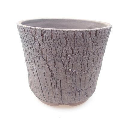 Keramische Bonsai-Schale 14,5 x 14,5 x 12,5 cm, Farbe schwarz - 1