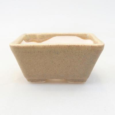 Mini Bonsai Schüssel 7 x 5,5 x 3,5 cm, beige Farbe - 1