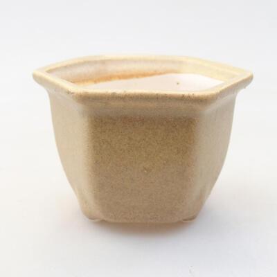 Mini Bonsai Schüssel 7 x 6 x 5 cm, beige Farbe - 1