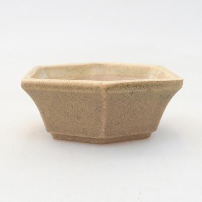Mini Bonsai Schüssel 6 x 5 x 2 cm, beige Farbe - 1
