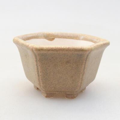 Mini Bonsai Schüssel 5 x 4 x 2,5 cm, beige Farbe - 1