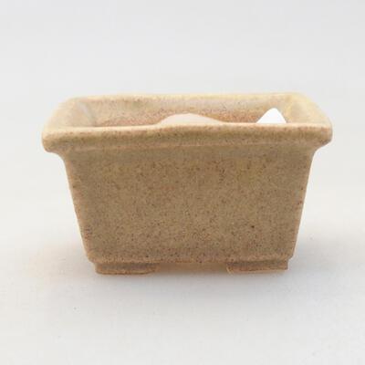 Mini Bonsai Schüssel 4 x 3 x 2 cm, beige Farbe - 1