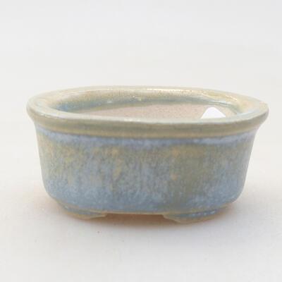 Mini Bonsai Schüssel 4 x 3,5 x 1,5 cm, Farbe blau - 1