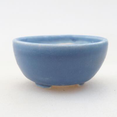 Mini Bonsai Schüssel 3,5 x 3,5 x 2 cm, Farbe blau - 1