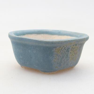 Mini Bonsai Schüssel 4 x 3 x 2 cm, Farbe blau - 1