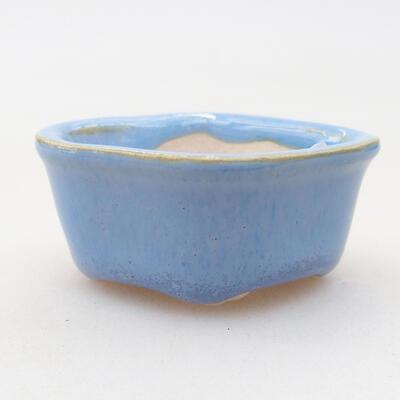 Mini Bonsai Schüssel 4 x 3,5 x 2 cm, Farbe blau - 1