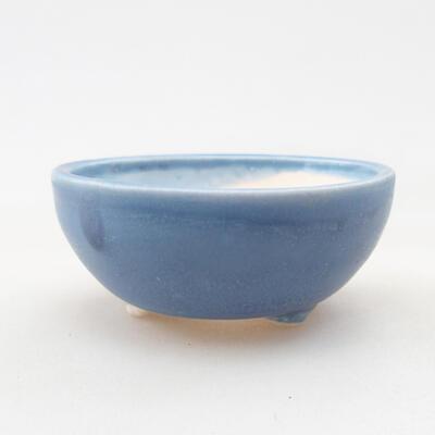 Mini Bonsai Schüssel 6 x 6 x 2,5 cm, Farbe blau - 1