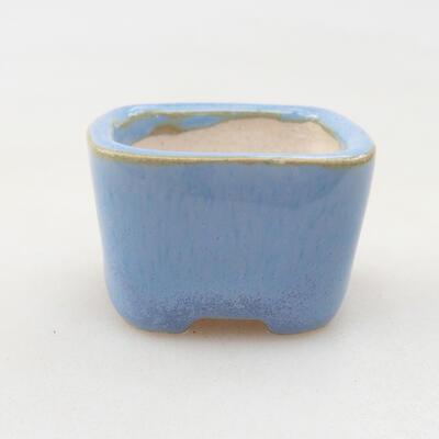 Mini Bonsai Schüssel 3,5 x 3,5 x 2,5 cm, Farbe blau - 1