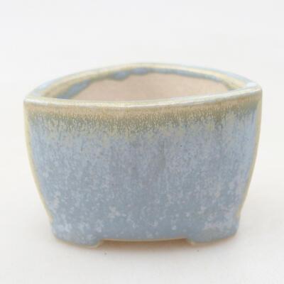 Mini Bonsai Schüssel 4 x 4 x 3 cm, Farbe blau - 1