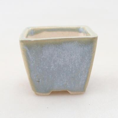 Mini Bonsai Schüssel 3 x 3 x 2,5 cm, Farbe blau - 1