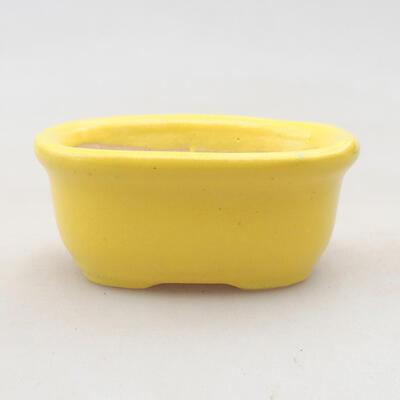 Mini Bonsai Schüssel 6 x 5 x 2,5 cm, Farbe gelb - 1