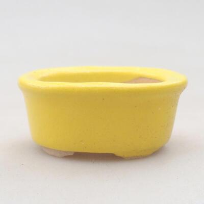 Mini Bonsai Schüssel 6 x 3,5 x 2 cm, Farbe gelb - 1